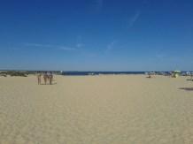 Playa de Tavira w Portugalii - niezbyt malownicza