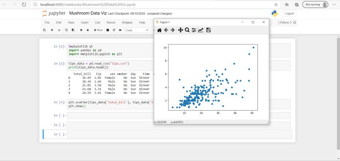 jupyter notebook qt plot externally matplotlib