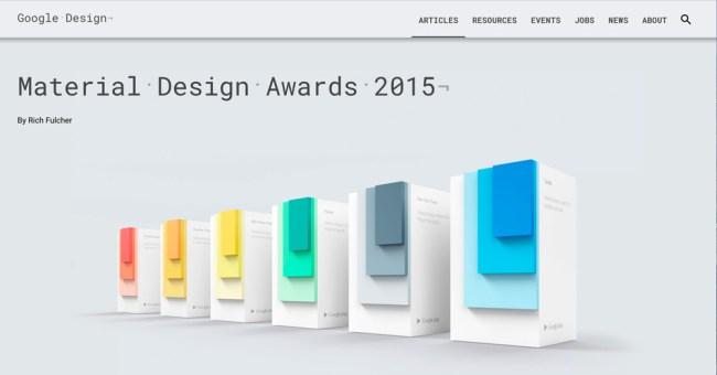 Google Material Design Award