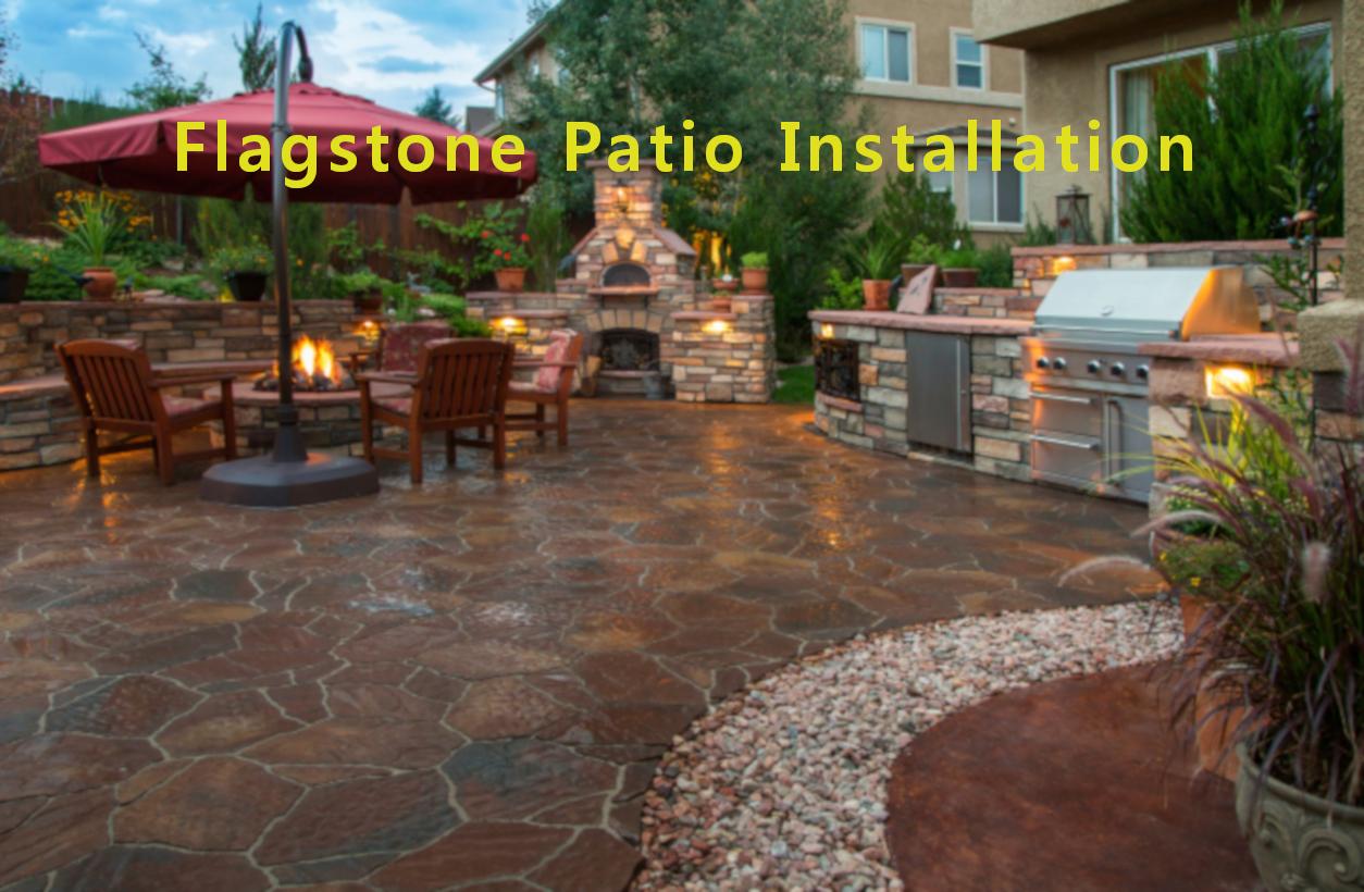 Flagstone Patios | Flagstone Patio Installation | Free ... on Flagstone Backyard Patio id=82347