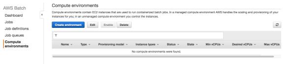 AWS Batch guide instances