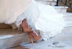 shoes bridal photo