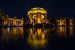 Palace of Fine Arts at night, San Francisco.