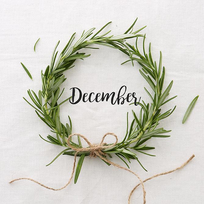 Christmas Rosemary wreath | Stacy Grant | Food Photographer