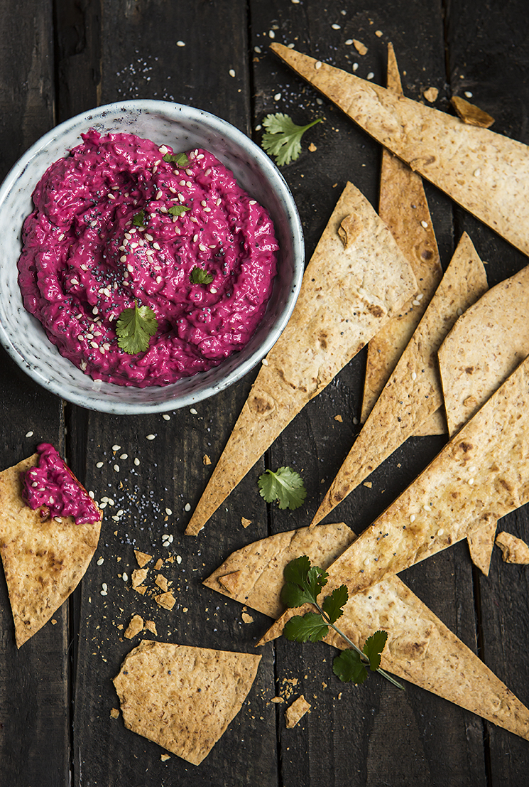Beetroot Hummus | Stacy Grant Food Photographer | Food Photography