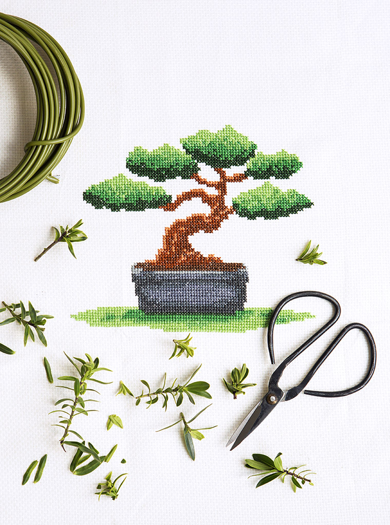 Bonsai Cross Stitch | Stacy Grant creative photography | XStitch Mag