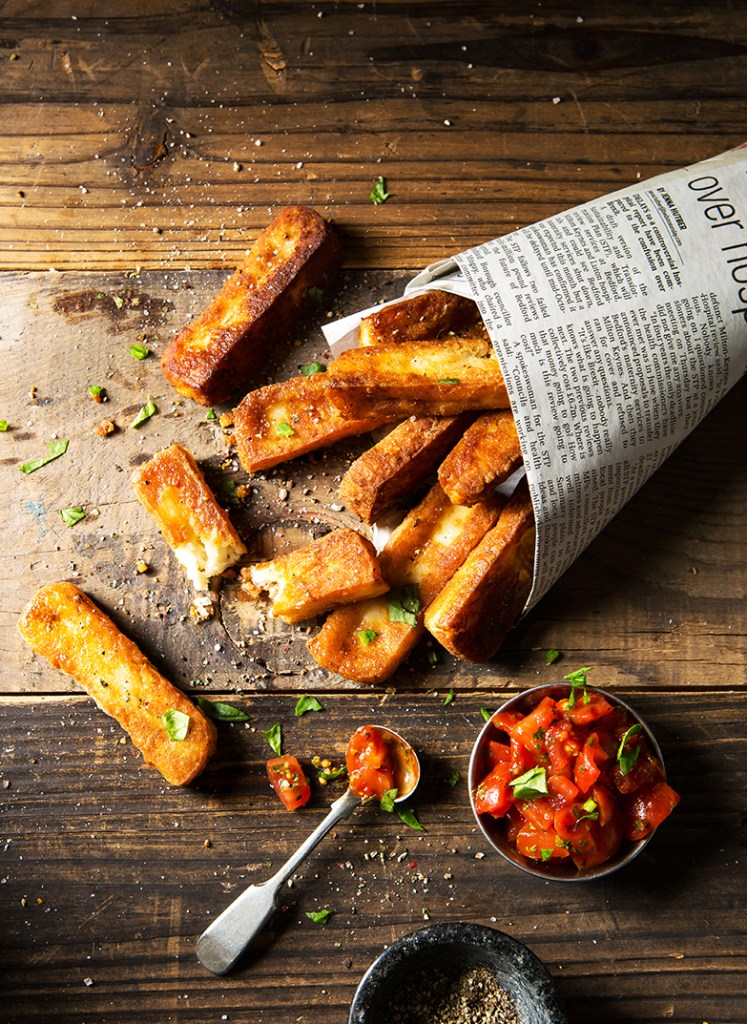 Halloumi Chips | Food Photography Stacy Grant