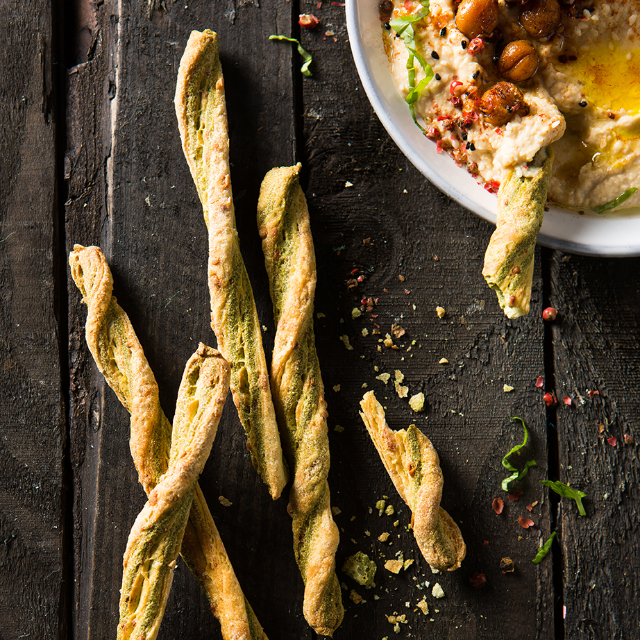 Breadsticks | Pesto | Hummus | Stacy Grant | Food Photography