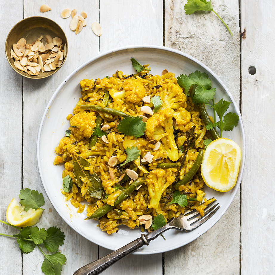 Cauliflower biryani | Vegan | Meatfree Monday | Stacy Grant Photography