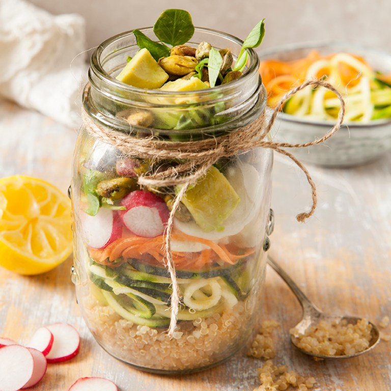 Raw Lunch jars | Meat Free Monday | Stacy Grant | Food photography