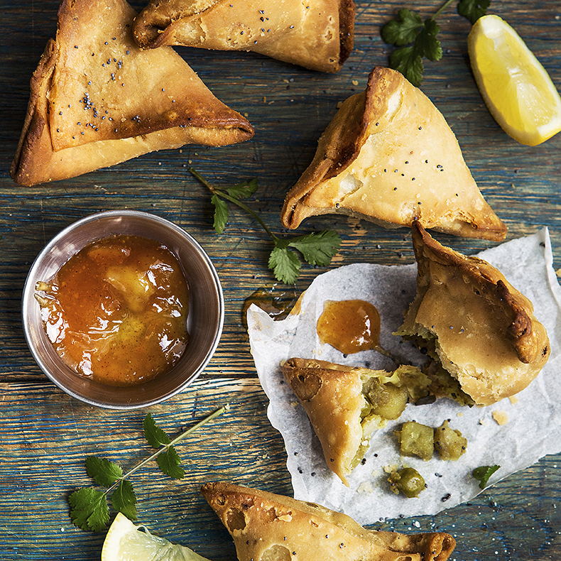 Indian Punjabi Vegetable Samosas Stacy Grant Photography
