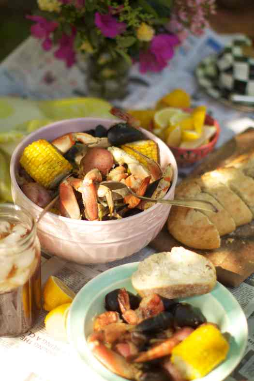 clam bake is served