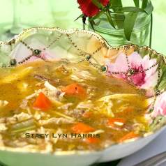 Chicken Soup with homemade chicken stock recipe by stacy lyn harris