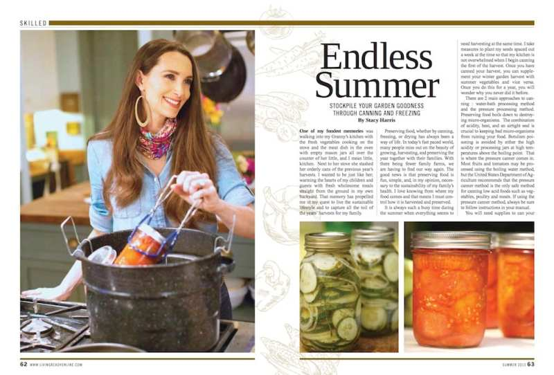 Stacy Canning Article for Living Ready