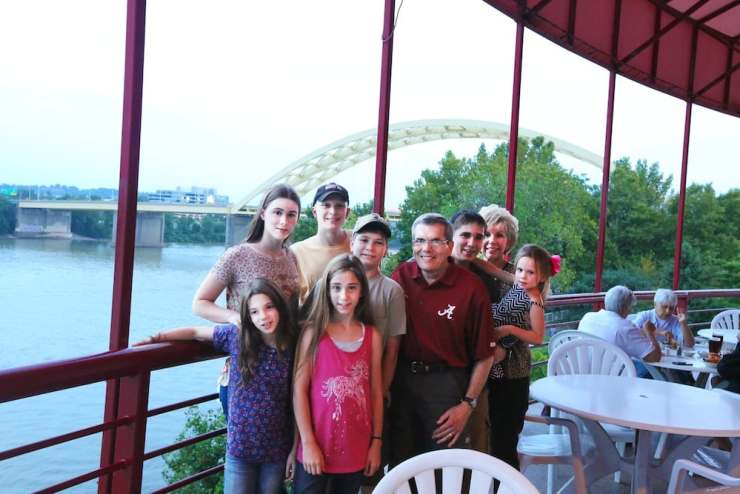 Family at Montgomery Inn in Ohio