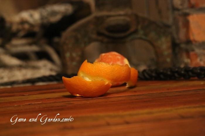 Orange peels make great kindling!