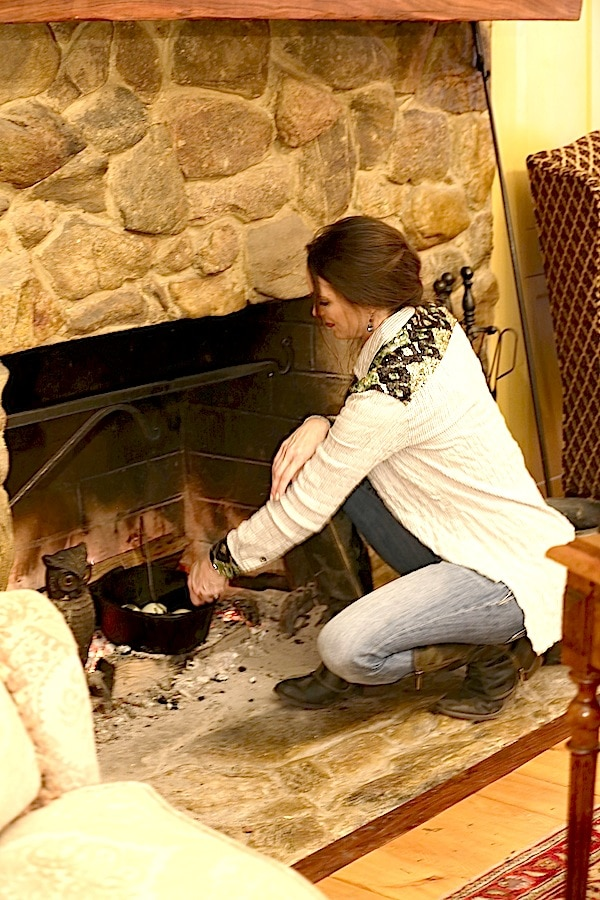 Cooking over the fire is so much fun whether you are inside or outside!