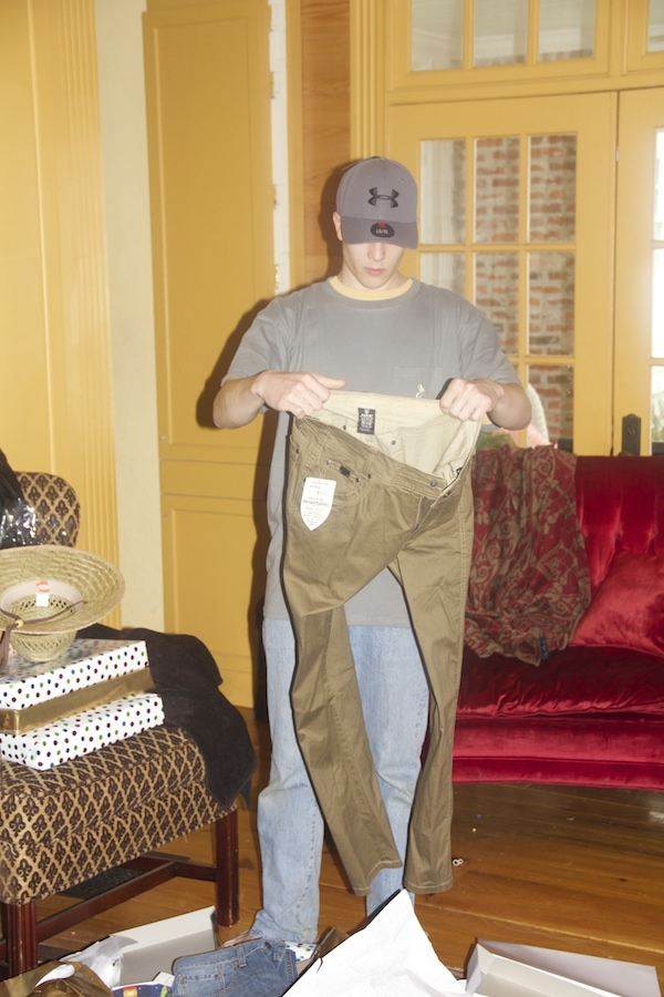 """Hunter looks at the pants and I think, """"Surely he isn't going to put these on…"""""""