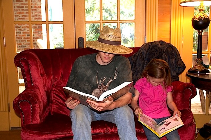 Hunter (20) to Milly (4) reading together! I am going to miss this one day!!