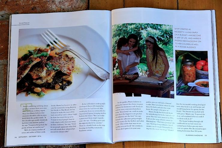 "Stacy Lyn in Alabama Magazine, ""I want to bring back the purity of people used to eat."""