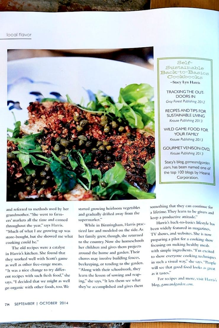 "Stacy Lyn shares with Alabama Magazine, ""We started growing heirloom vegetables and started drifting away from supermarkets."""