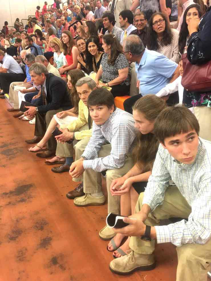 Look at the men in the picture: like grandfather, like father, like son! As we wait Forrest's graduation — FUN TIMES!
