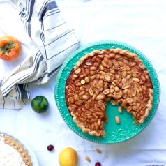 Stacy Lyn's Alabama Peanut Pie - Peanuts are grown in Alabama and ALAGA Syrup from Montgomery, Alabama. What could be more regional?