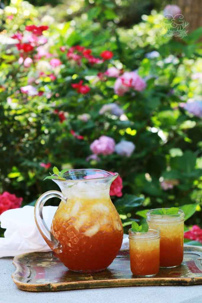 Southern Peach Tea is a mainstay in a Southern Home!! Easy to make and super refreshing!