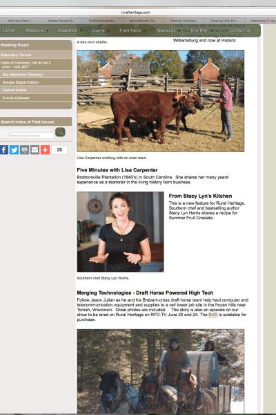 Stacy Lyn Harris on Rural Heritage TV