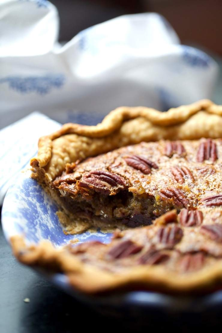 Stacy Lyn's Simple Southern Pecan Bourbon Pie with Chocolate Chips