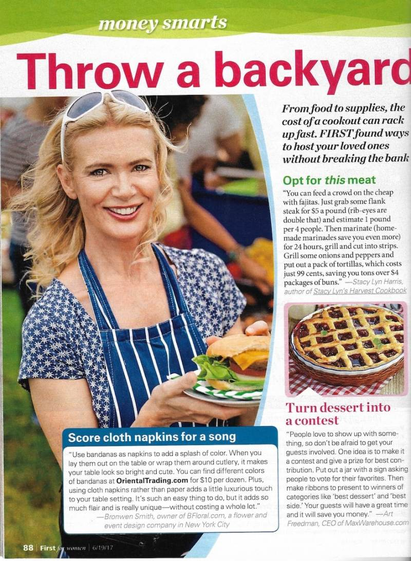 First for Women - Stacy Lyn Harris gives tips for simple economic dishes for July 4th Celebration.