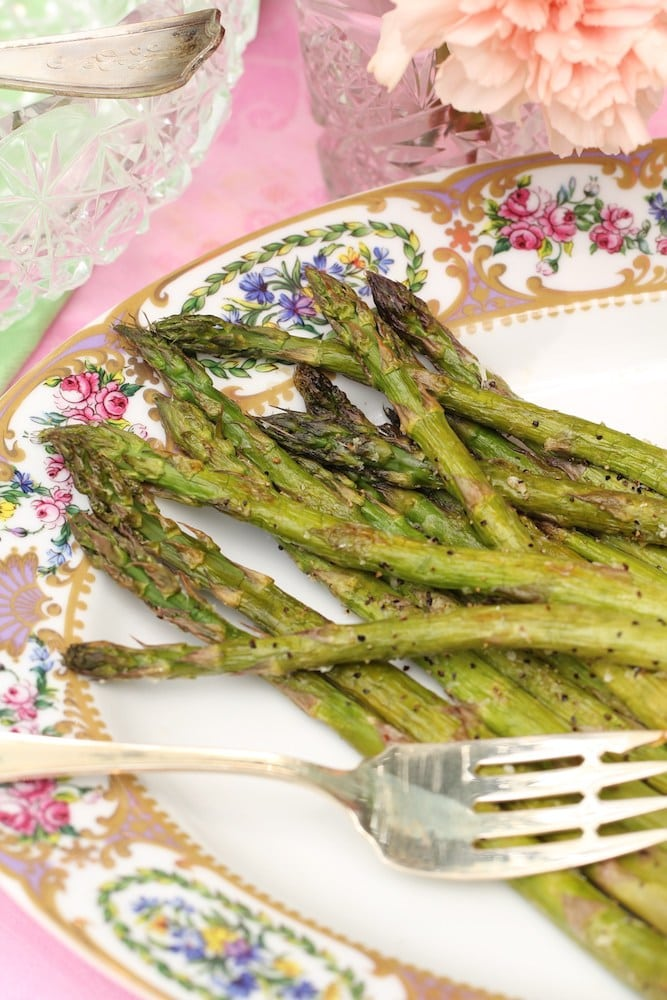 Roasting your asparagus leaves you with a surprisingly tasty side dish that pairs perfectly with lighter meats like fish or quail.