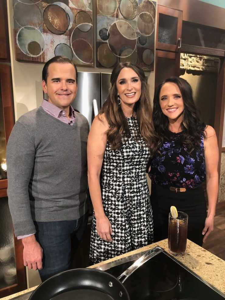 Stacy Lyn Harris on the set of The Difference with Matt and Kendal Hagee