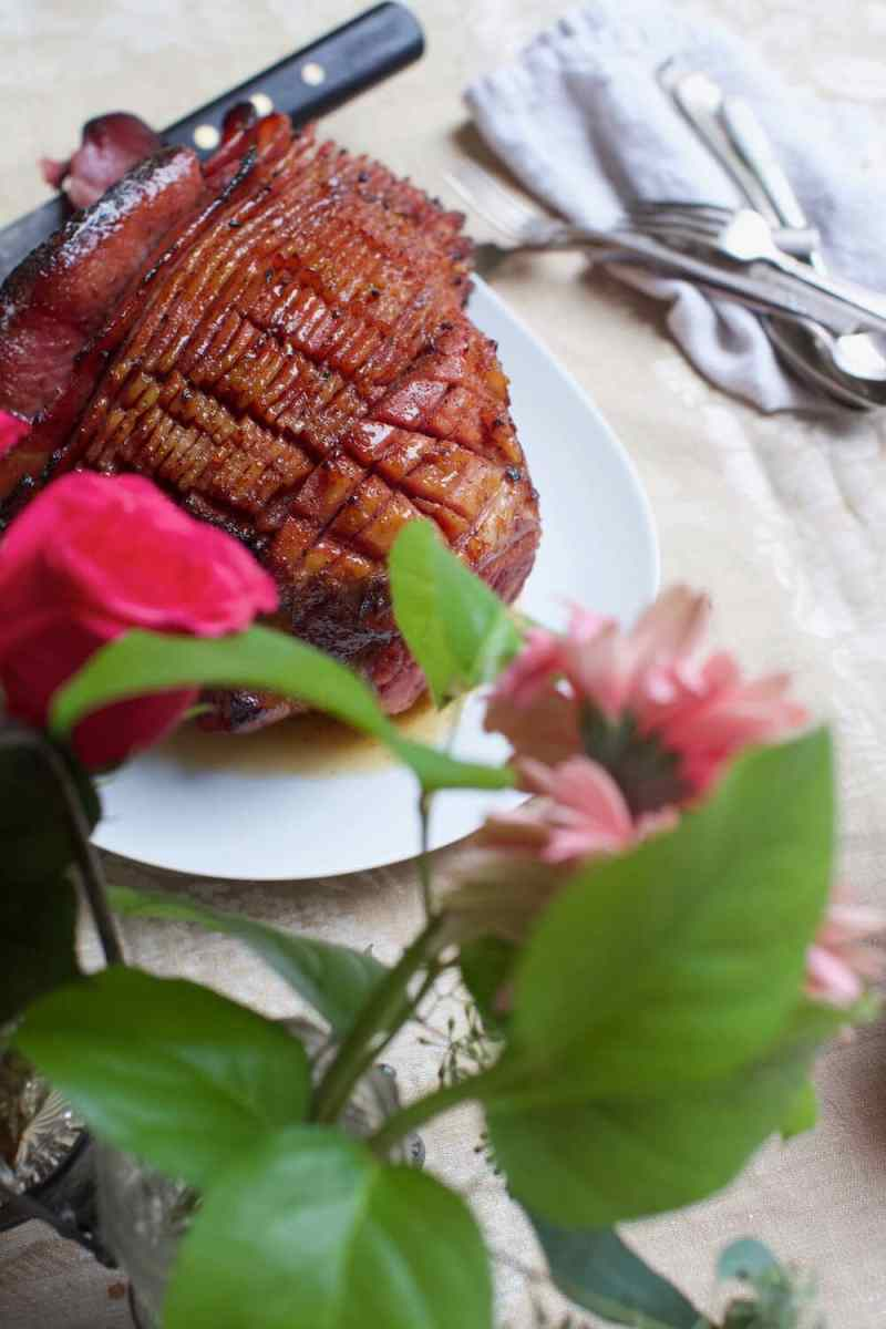 Southern baked ham, spiral cut fresh cured ham with easy glaze recipe