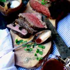 Prime rib or standing rib roast cooked rare, recipei by Stacy Lyn Harris