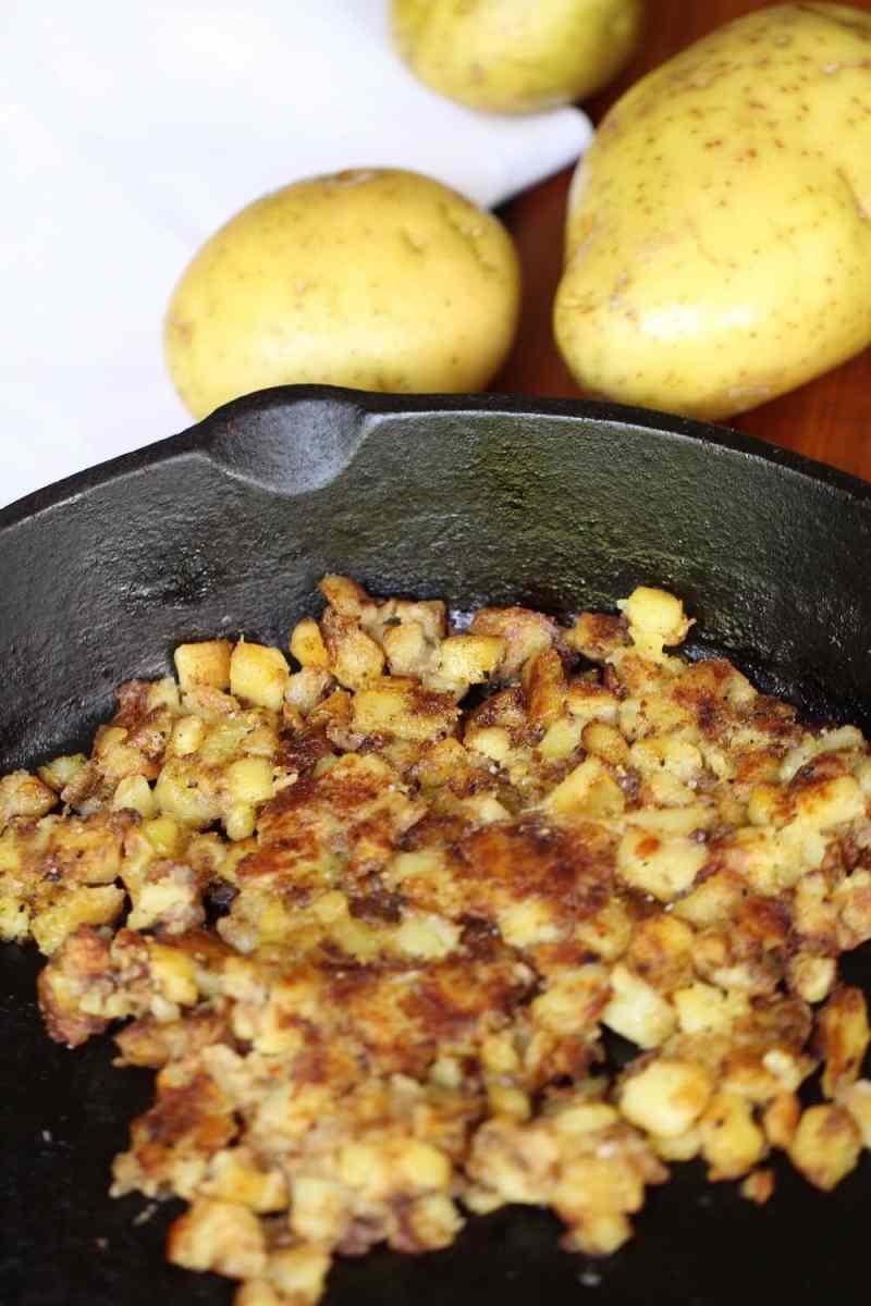 Crispy homemade hash brown breakfast dish, recipe by Stacy Lyn Harris