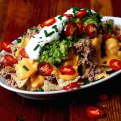 Slow Cooker Pheasant Nachos, recipe by Stacy Lyn Harris from her Harvest Cookbook