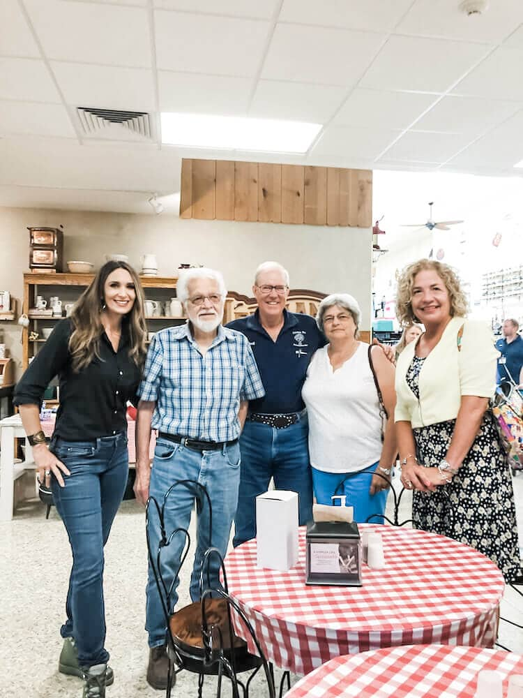 Stacy Lyn Harris visiting the Lehman's facility in Ohio while speaking at the Country Living Workshop for Lehman's hardware