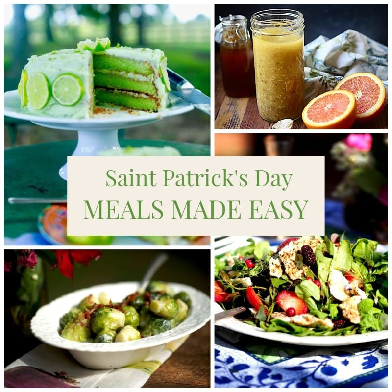 green food for St. Patrick's