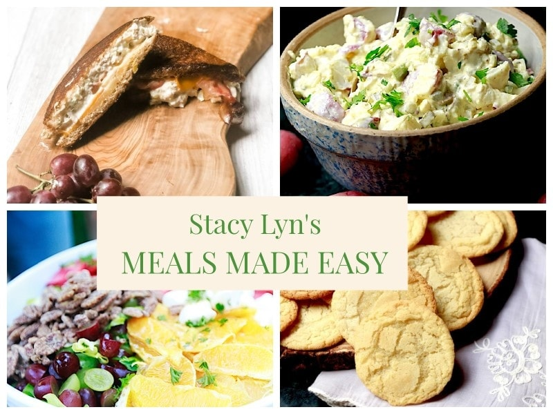mouthwatering tuna salad sandwich and chopped salad - Stacy Lyn's Meals Made Easy