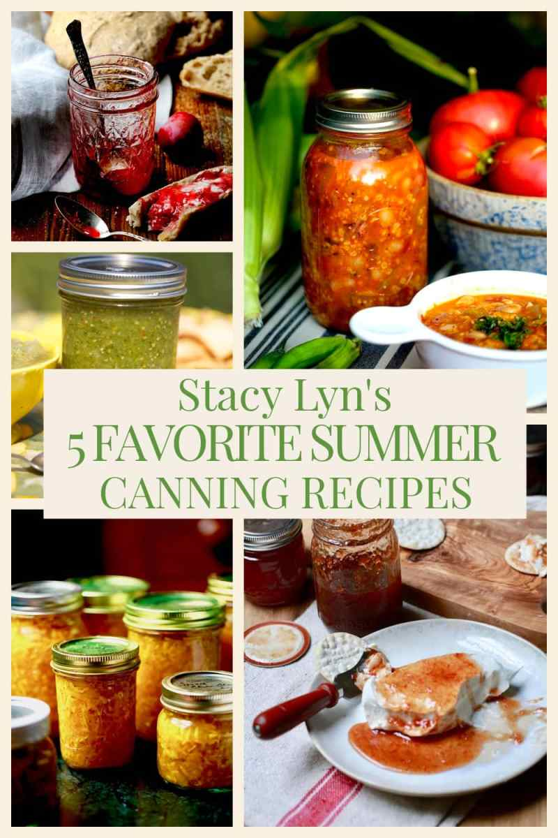 montage of canning and preserving images from Stacy Lyn's articles