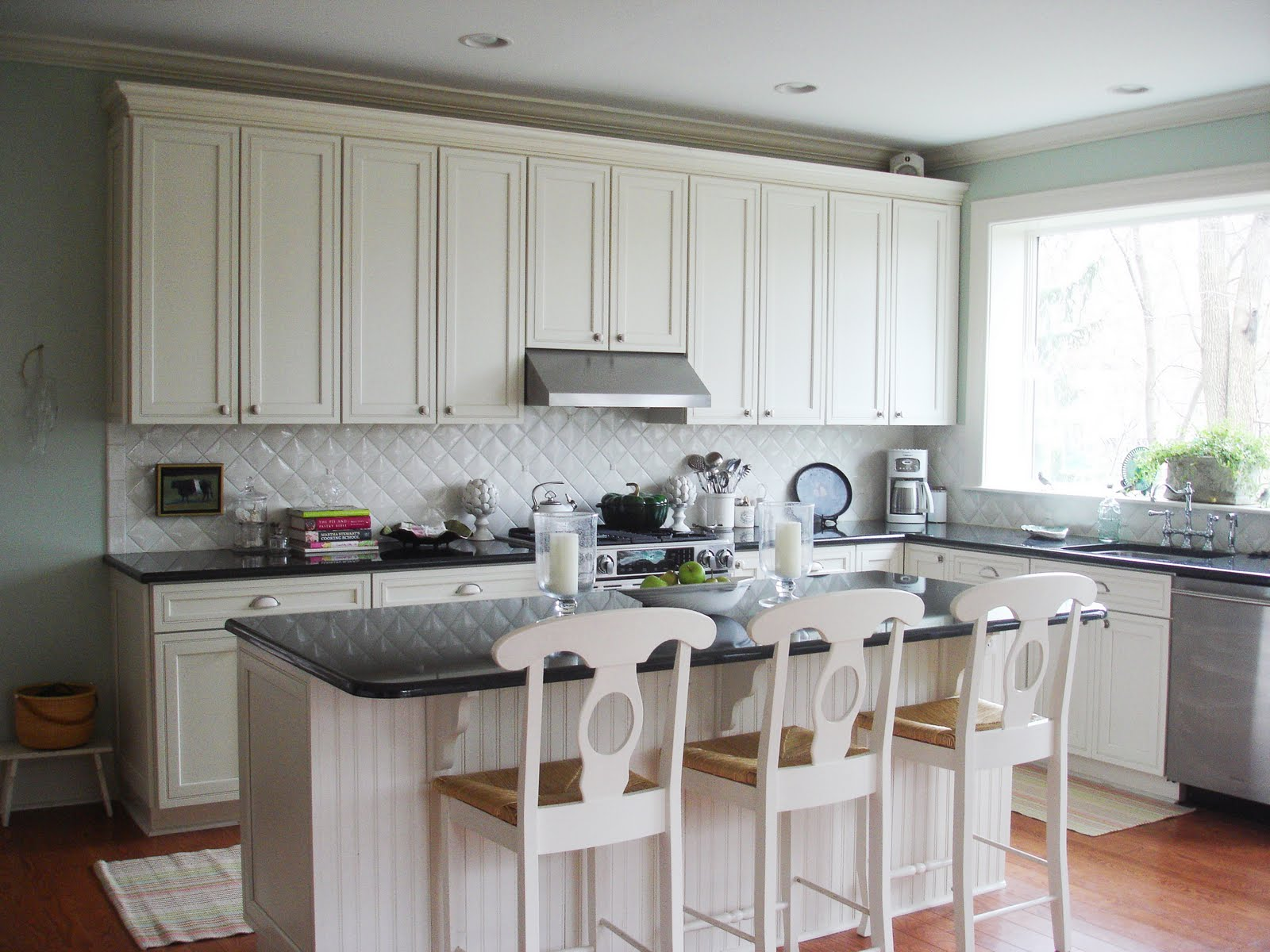 A Big Thank You to Cococozy! | Stacy Nance Interiors on Backsplash For Black Granite Countertops And White Cabinets  id=98586
