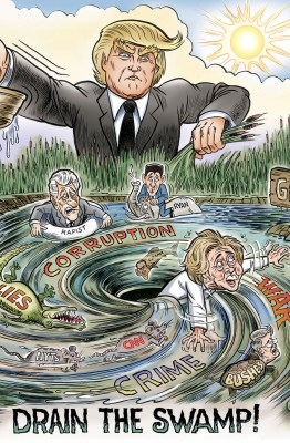 Draining the Swamp by Ben Garrison