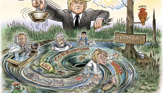 Draining the Swamp by Ben Garrison