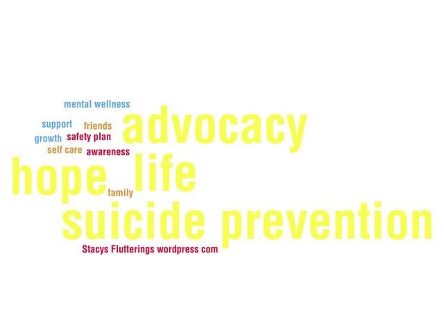 Suicide Prevention Word Cloud