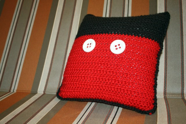 Free Pattern Crochet Disney Inspired Throw Pillow Mickey Mouse