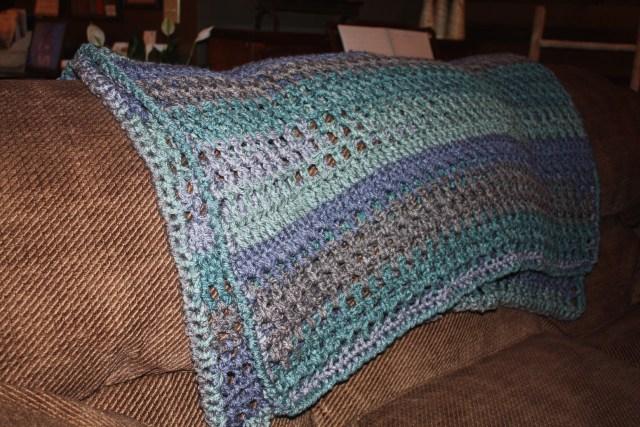 Cozy Crochet Blanket Sofa Throw With Caron Tea Cakes Free