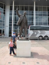 Former Southampton FC coaching great Ted Bates. The bronze statue of a former great is a stadium ubiquity. (Photo: Stadiafile)