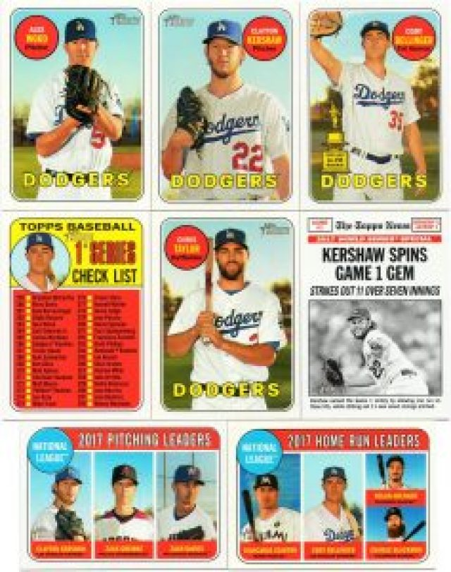 A sample of some 2018 Topps Heritage baseball cards
