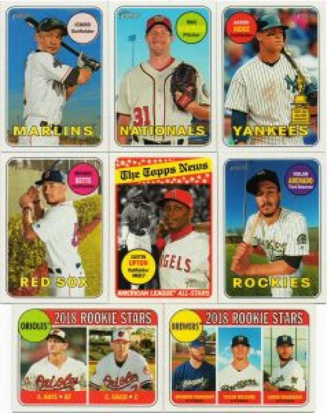 A sampling of 2018 Topps Heritage base cards